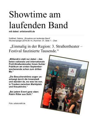 14. Sept. 2016 Suhl | 3. Straßenfestival